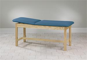 Hardwood Treatment Table with H Brace